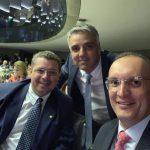 Fabio Reis, Fábio Henrique e Fábio Mitidieri juntos na CPI das Companhias Aéreas