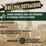 Profissionais de segurança pública de Sergipe farão mobilização nesta quinta-feira