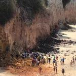 Paredão de areia em praia no Rio Grande do Norte desaba e mata 3 pessoas