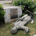 Itabaiana: Estátua de líder religiosa é alvo de vandalismo
