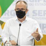 """""""Pararei qualquer obra, mas não deixarei de adquirir vacinas para os sergipanos"""", diz Belivaldo"""